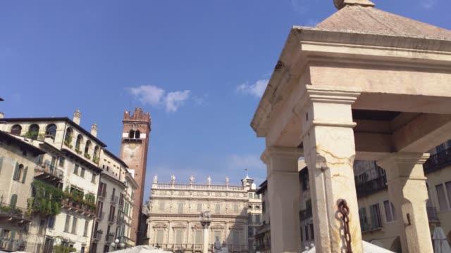 Detail of architecture in Piazza delle Erbe in Verona 2