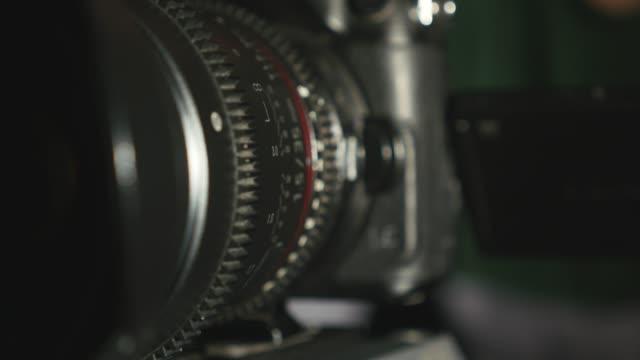 Detail of Camera lens setup video