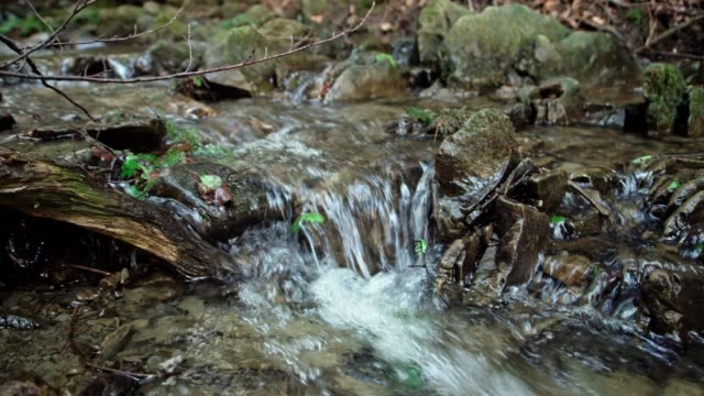 detail of cascades on a stream