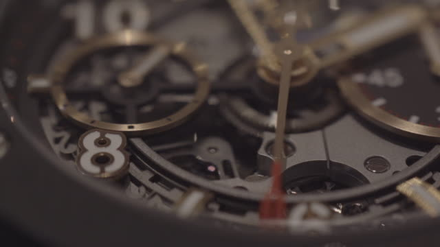 Detail of complex watch Exploring the Black Forest Region in Germany wristwatch stock videos & royalty-free footage