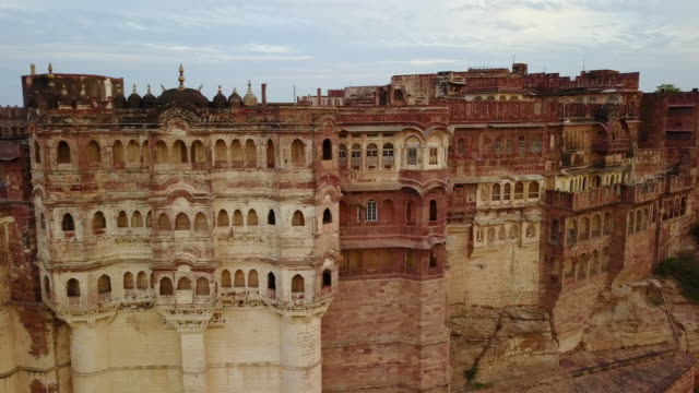 detail of the mehrangarh fort, in jodhpur, rajasthan, india - india video stock e b–roll