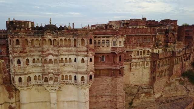 mehrangarh kale detay, jodhpur, rajasthan, hindistan - hindistan stok videoları ve detay görüntü çekimi