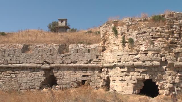 detail views of castle of 'seddulbahir' in the canakkale. canakkale/turkey 09/19/2013 - i wojna światowa filmów i materiałów b-roll