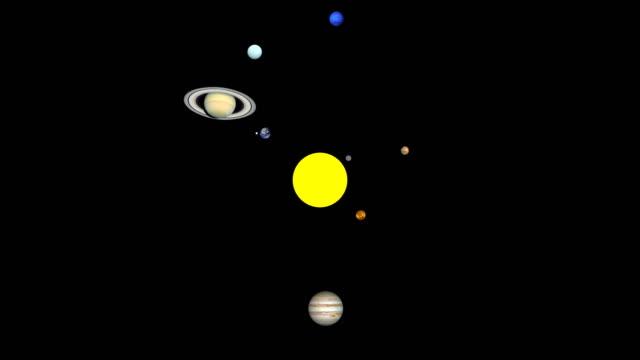 detailed solar system order orbit the sun - układ słoneczny filmów i materiałów b-roll