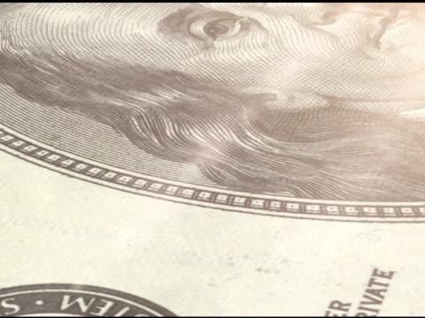 vídeos y material grabado en eventos de stock de detalles: 100 dollar bill - accesorio financiero