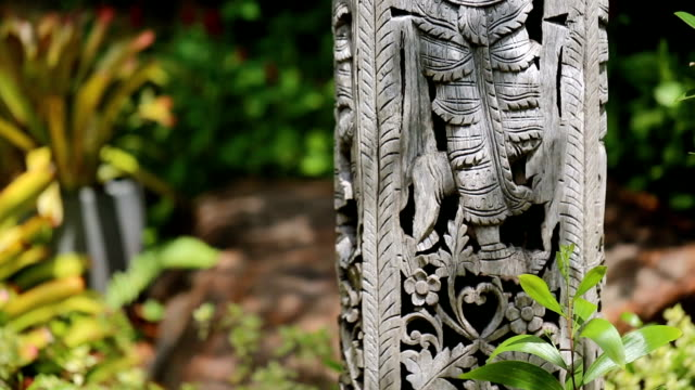 Details of a fine wood carving art.