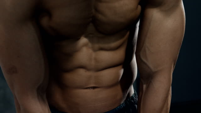 Details of a Fitness Model's Torso video