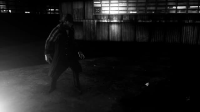 Detective Sherlock Holmes Investigating Crime Scene with Dead Body