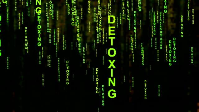 detoxing textmatris stil koncept - offline bildbanksvideor och videomaterial från bakom kulisserna