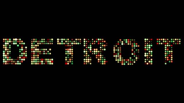 detroit led text - maszynopis filmów i materiałów b-roll