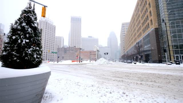 Detroit, MI in the winter