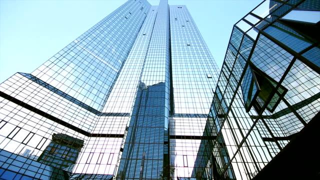 Deutsche Bank Building In Frankfurt Tilt Up video