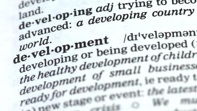 utveckling ord i engelska ordbok, utbildning och förbättring, challenge - stavning bildbanksvideor och videomaterial från bakom kulisserna