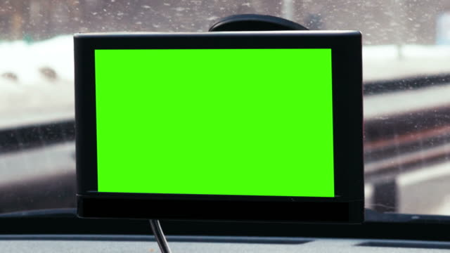 GPS device with chroma key over dashboard video