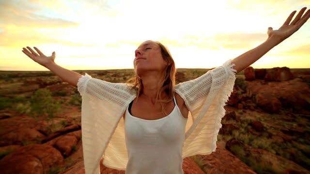 Devil's Marbles at sunrise, Northern Territory, Australia video
