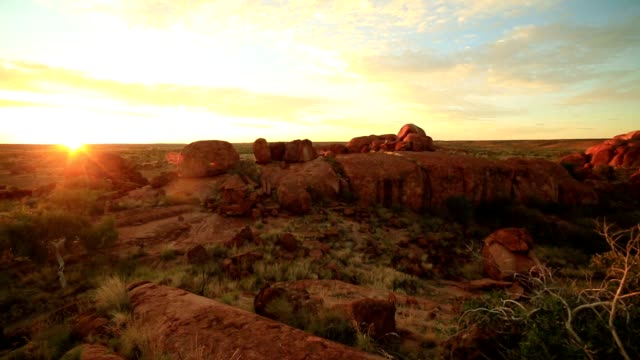 Devil's Marbles at sunrise, Northern Territory, Australia video
