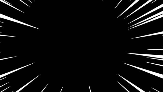 linee di velocità diagonali che si muovono con canale alfa. fumetti anime azione speedline - immagine mossa video stock e b–roll