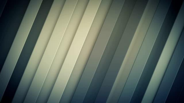 vídeos de stock e filmes b-roll de diagonal stripes seamless loop 3d render animation - reto descrição física