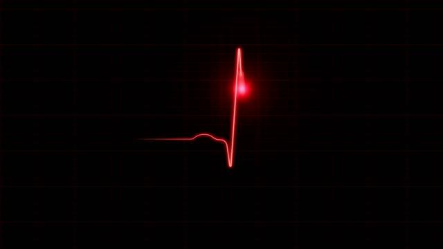 EKG Diagram on Black Background Red EKG diagram showing heart beat on black background. 4K resolution. human heart stock videos & royalty-free footage