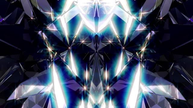 diamond 4k - узор калейдоскоп стоковые видео и кадры b-roll