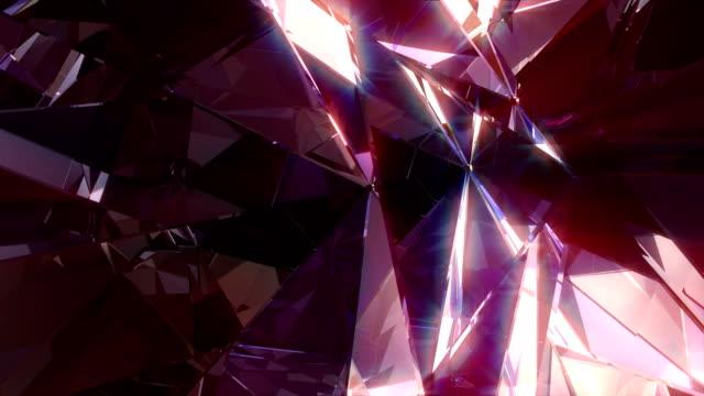 vídeos de stock, filmes e b-roll de diamante 4k - dance music