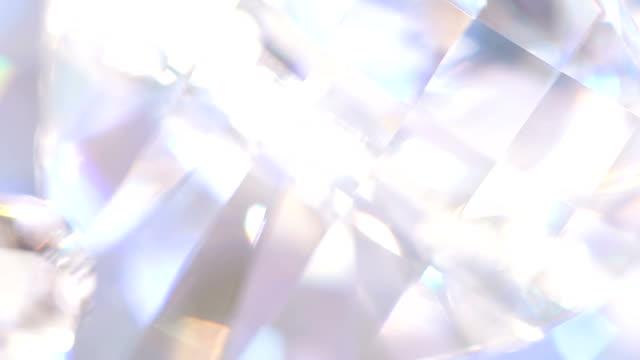 Diamond background - macro video
