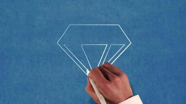 Diamond Blueprint Stop-Motion Style Animation video