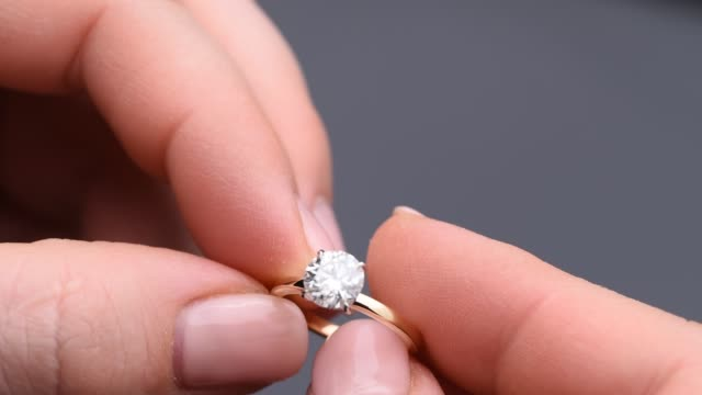 diamond engagement ring - engagement stock videos & royalty-free footage