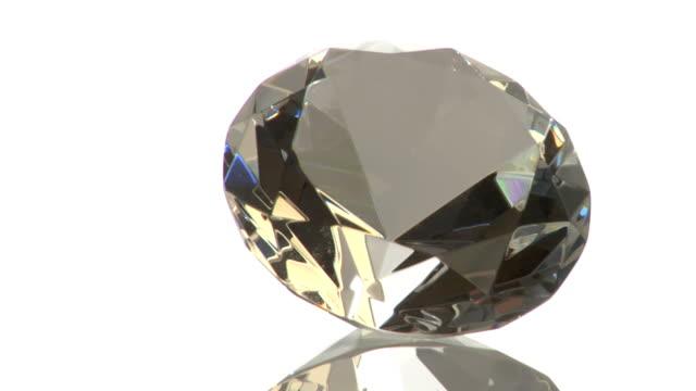 Diamond gem on white background video