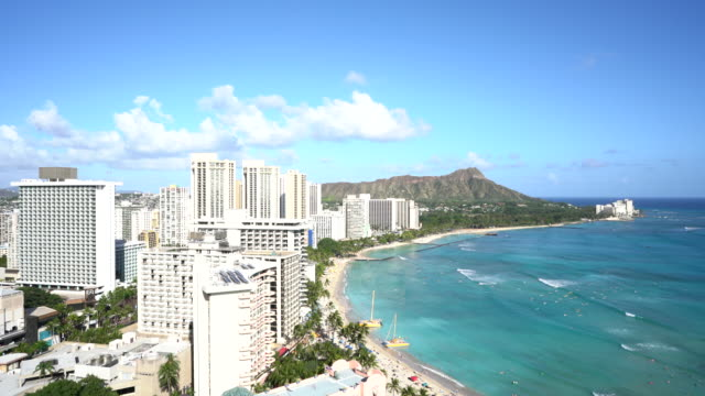 Diamond head and Waikiki beach, Oafu, Hawaii