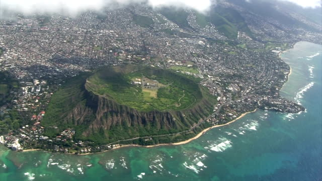 Diamond Head from the airplane video