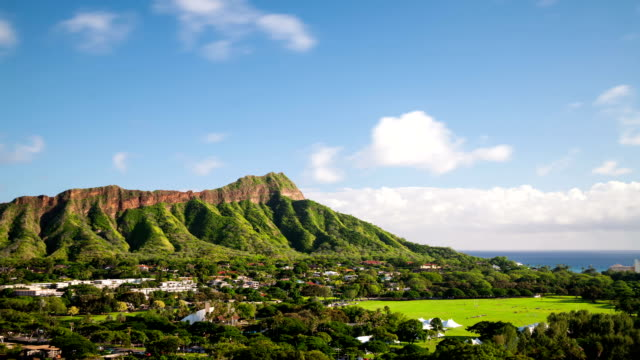 Diamond Head Honolulu Hawaii Time Lapse video