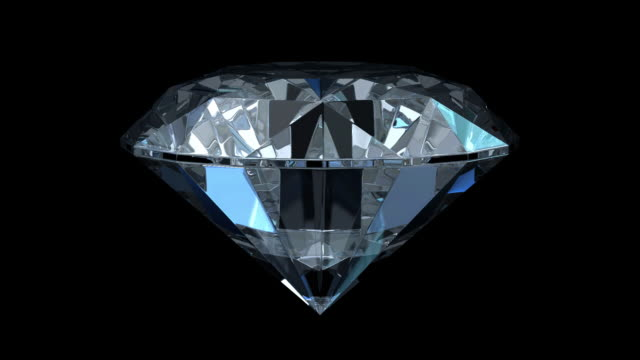 Diamond Isolated On Black (HD1080) Seamlessly loopable. Include alpha channel. 3D render. diamond stock videos & royalty-free footage