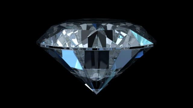 diamanti isolato su nero (hd 1080 - brillante video stock e b–roll