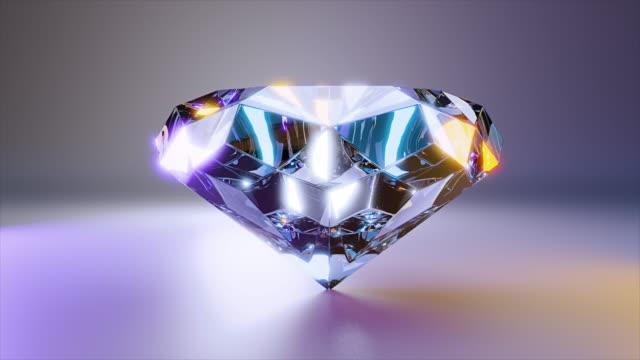 алмазный ювелирный камень - камень стоковые видео и кадры b-roll