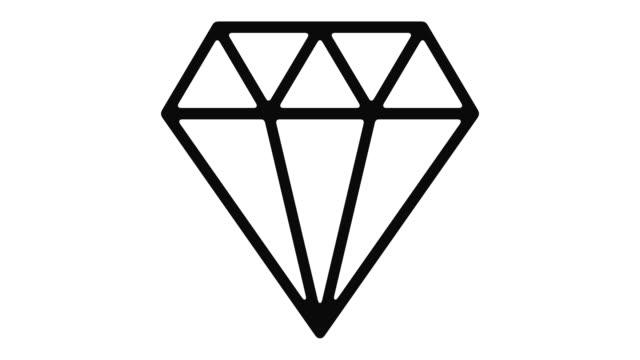 ダイヤモンド ライン モーション グラフィック - アイコン プレゼント点の映像素材/bロール