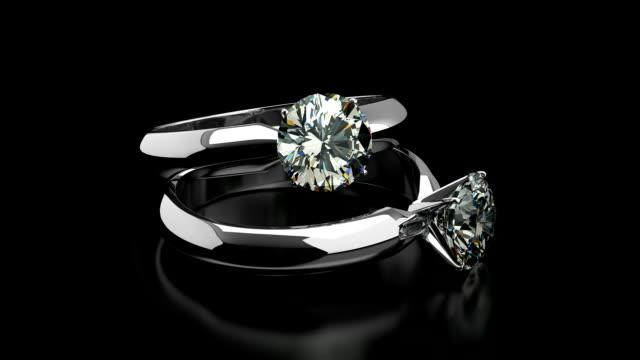 vídeos y material grabado en eventos de stock de diamond anillos de - joyas
