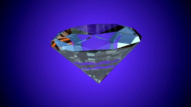 Diamond rotating seamless loop, against light blue video