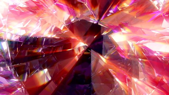 diamond vj dj background 4k loop - узор калейдоскоп стоковые видео и кадры b-roll