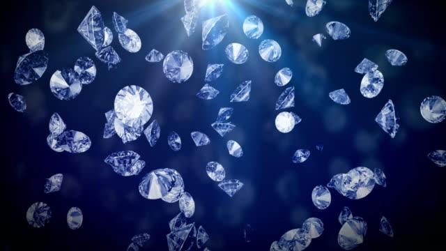 ダイヤモンド落下背景 ビデオ