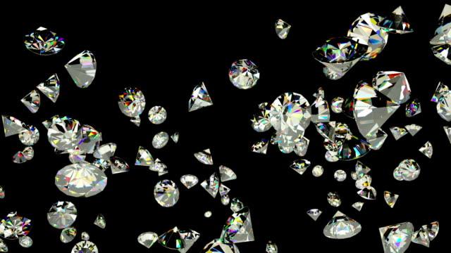 diamanter flyger i slow motion mot svart - ancient white background bildbanksvideor och videomaterial från bakom kulisserna