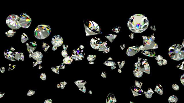 diamanter flyger i slow motion, luma matte bifogas - ancient white background bildbanksvideor och videomaterial från bakom kulisserna