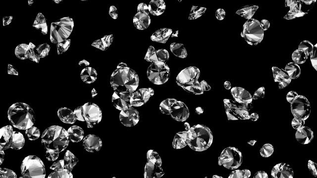 Diamonds #1 HD Includes Luma Mask for easy compositing. diamond stock videos & royalty-free footage