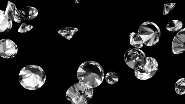 Diamonds #2 HD Includes Luma mask for easy compositing. diamond stock videos & royalty-free footage