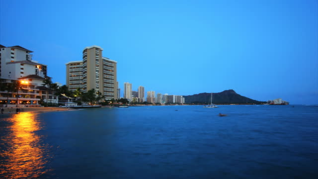 Diamonds Head dawn time lapse HD - Honolulu video