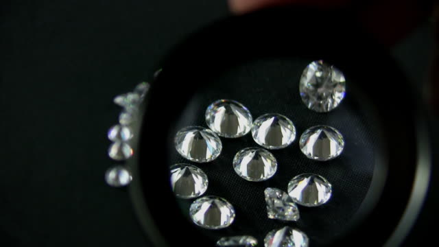 Diamonds Inspected by Magnification (HD) video