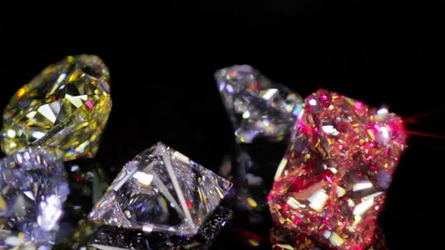 Diamonds on black video