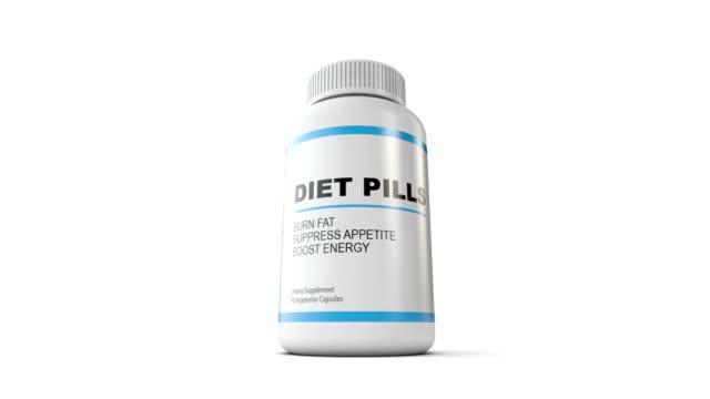 Diet Pill Bottle Over Top video