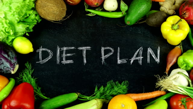 Diet Plan Fruit Stop Motion Stock Video & More Clips of