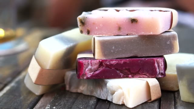 different colours handmade homemade soap bar video